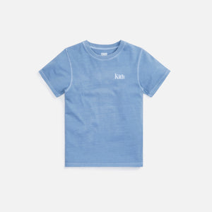 Kith Kids Serif Tee - Light Indigo