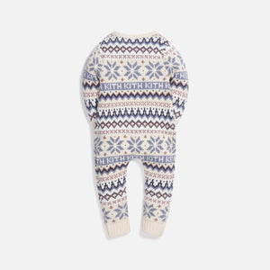 Kith Kids Baby Fairisle Coverall - Turtledove / Multi