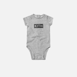 Kith Kids Classic Logo Onesie - Heather Grey