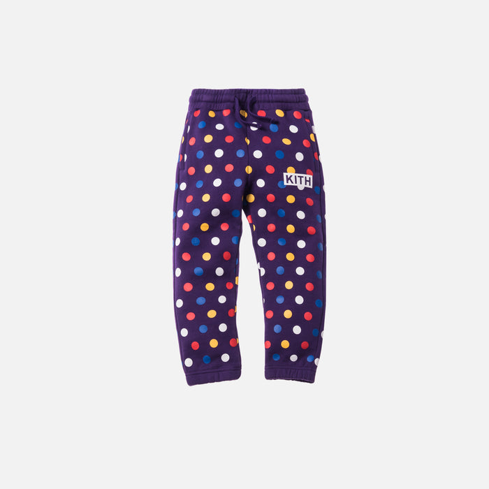 Kith Kids Polka Dot Classic Logo Sweatpant - Purple