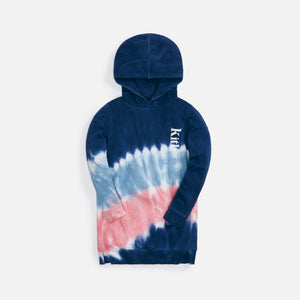 Kith Kids Tie Dye Hoodie Dress - Blue / Multi
