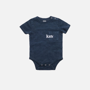 Kith Kids Toddlers Quinn Onesie - Navy