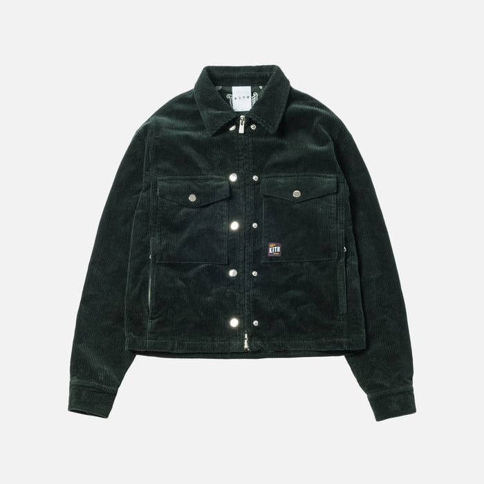 Kith Women Maya Corduroy Jacket - Forest Green