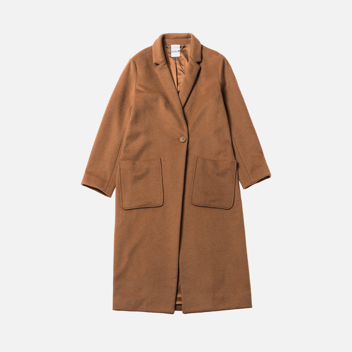 Kith Women Eva Long Coat - Toast