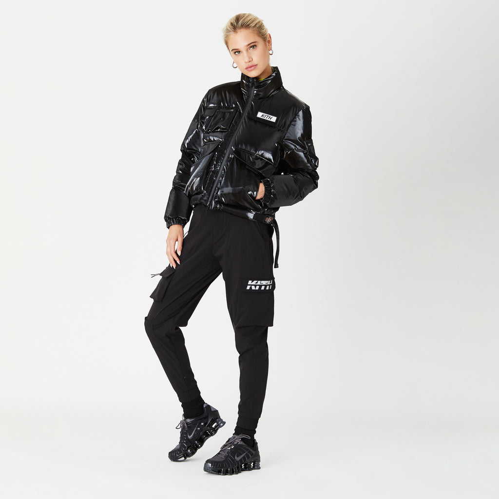 Kith Women Vicky Puffer Jacket - Black-look