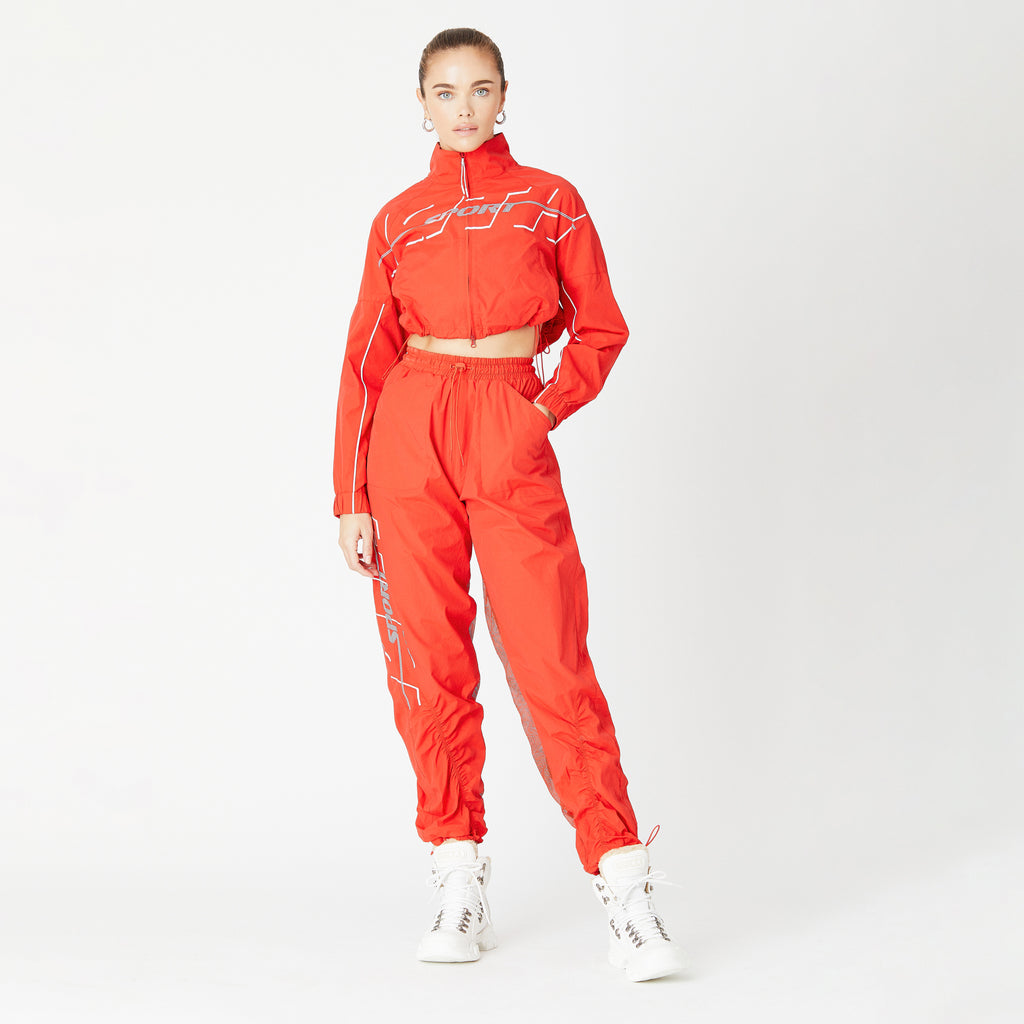 Kith Women Sport Jacket - Fiery Red-look