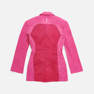 Kith Women Jillian Nylon Blazer - Shocking Pink Image 2