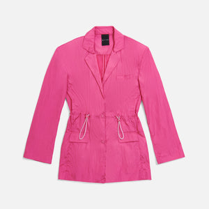 Kith Women Jillian Nylon Blazer - Shocking Pink Image 1