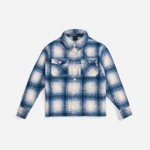 Kith Women Fawn Flannel Jacket - Blue Multi Image 1