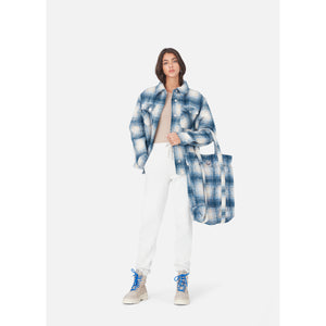 Kith Women Fawn Flannel Jacket - Blue Multi Image 3