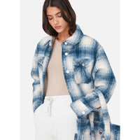 Kith Women Fawn Flannel Jacket - Blue Multi Thumbnail 4