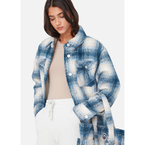 Kith Women Fawn Flannel Jacket - Blue Multi Image 4
