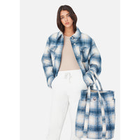 Kith Women Fawn Flannel Jacket - Blue Multi Thumbnail 5