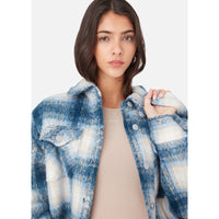 Kith Women Fawn Flannel Jacket - Blue Multi Thumbnail 6