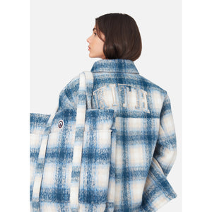Kith Women Fawn Flannel Jacket - Blue Multi Image 7