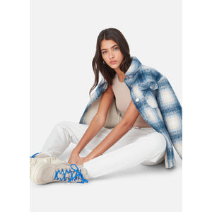 Kith Women Fawn Flannel Jacket - Blue Multi Image 8
