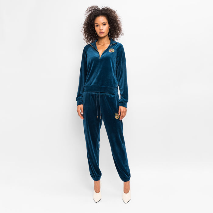 Kith Women Abby Velour Pant - Teal