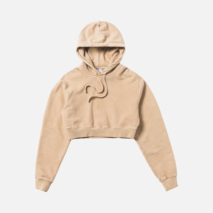 Kith Women Alexa Cropped Hoodie - Turtle Dove
