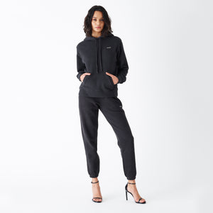 Kith Women Jane Hoodie - Washed Black Image 2