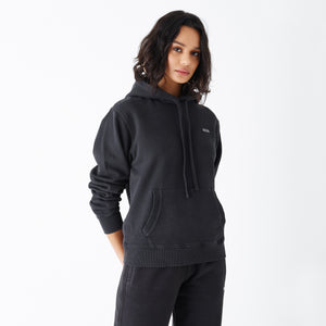 Kith Women Jane Hoodie - Washed Black Image 3