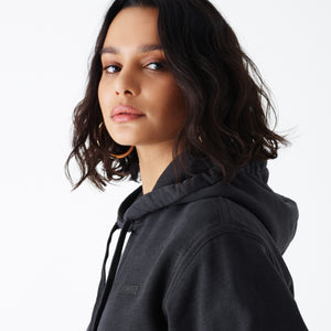 Kith Women Jane Hoodie - Washed Black Image 5