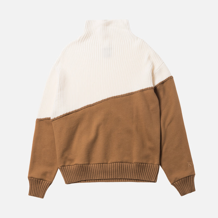 Kith Women Fay Combo Funnel Neck - Toast