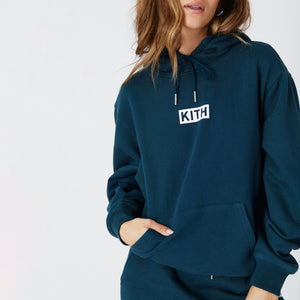 Kith Women Jane Hoodie - Night Sea Image 5