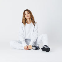 Kith Women Cris Oversized Crewneck - Heather Grey Thumbnail 1