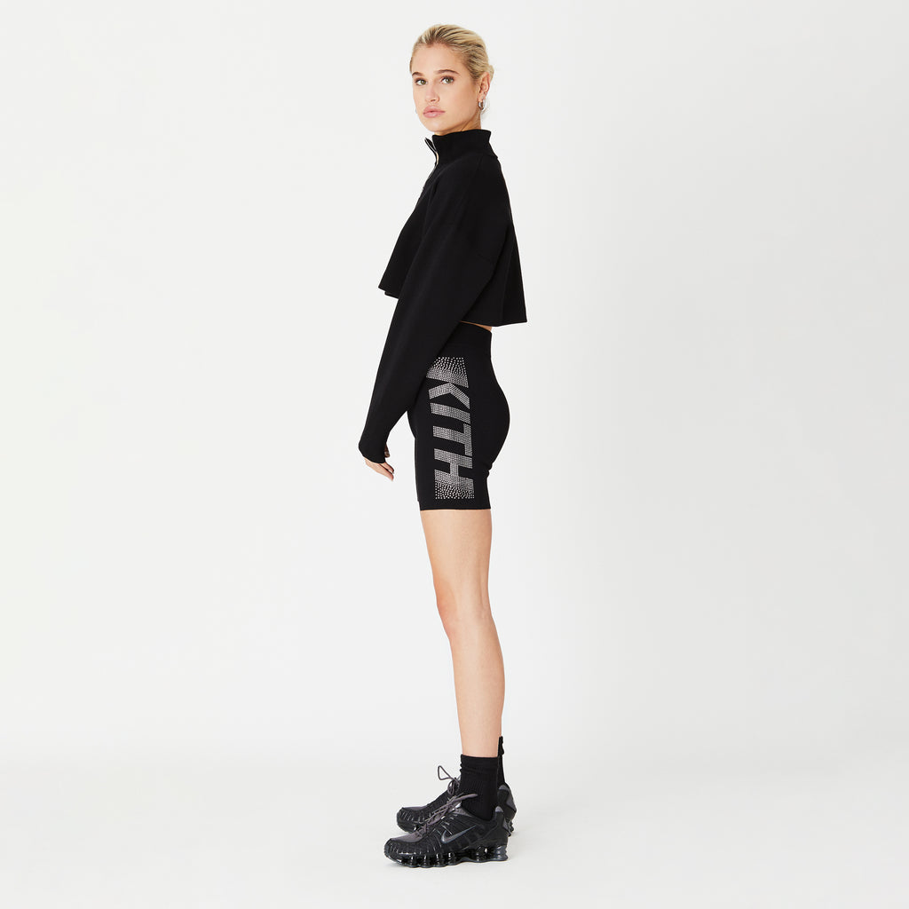 Kith Women Harper Swarovski Half-Zip - Black-look