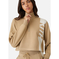 Kith Women Harper Half Zip - Tan Thumbnail 3