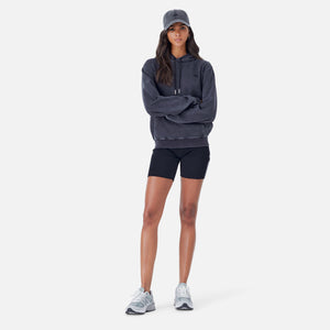 Kith Women Jane Interlock Hoodie - Black Image 3