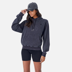 Kith Women Jane Interlock Hoodie - Black Image 4