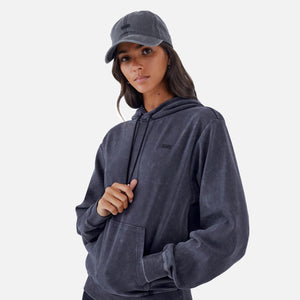 Kith Women Jane Interlock Hoodie - Black Image 5