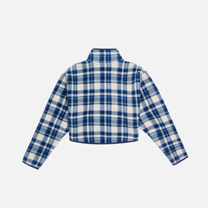 Kith Women Plaid Rae Half-Zip - Blue Multi