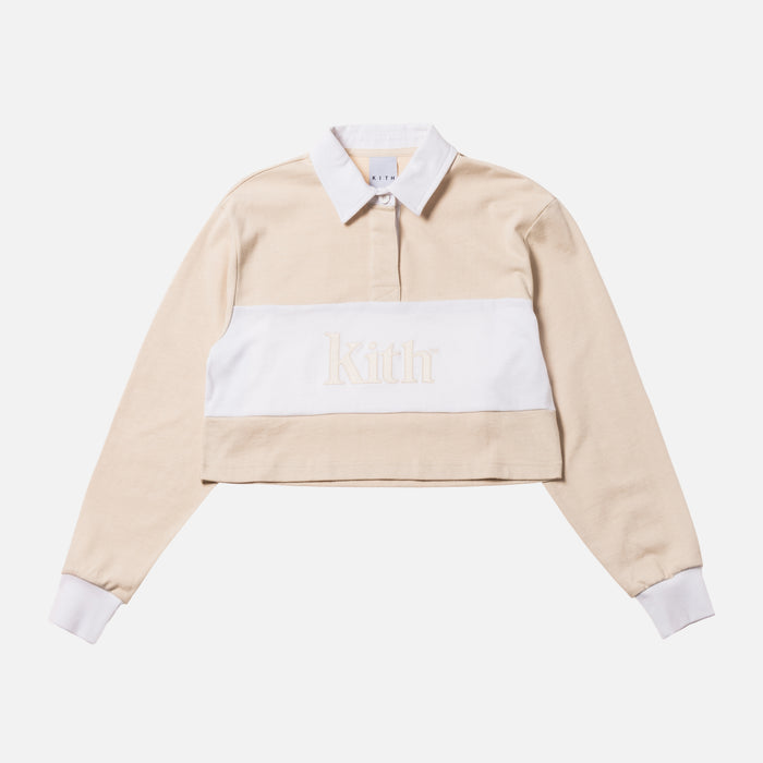 Kith Women Mia Color Blocked Rugby L/S - Cream Multi