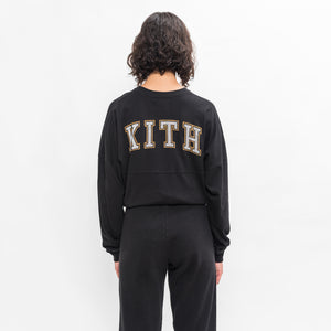 Kith Women Collegiate Lucy L/S Tee - Black