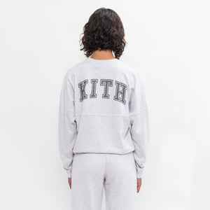 Kith Women Collegiate Lucy L/S Tee - Light Heather Grey