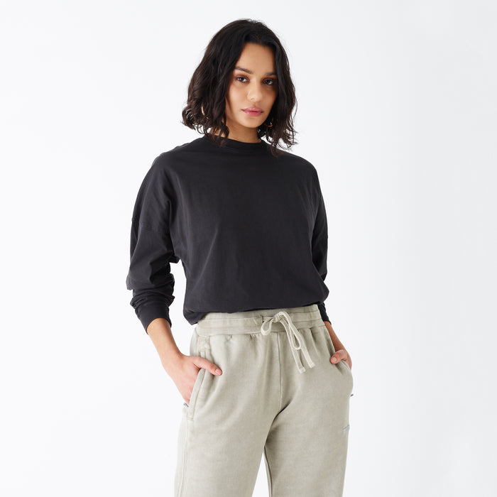 Kith Women Lucy L/S Tee - Washed Black