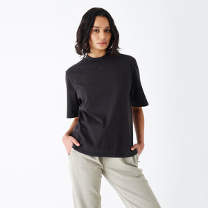 Kith Women Mei Mock Neck Tee - Washed Black