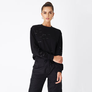 Kith Women Anti-Gravity Sonoma L/S Tee - Black