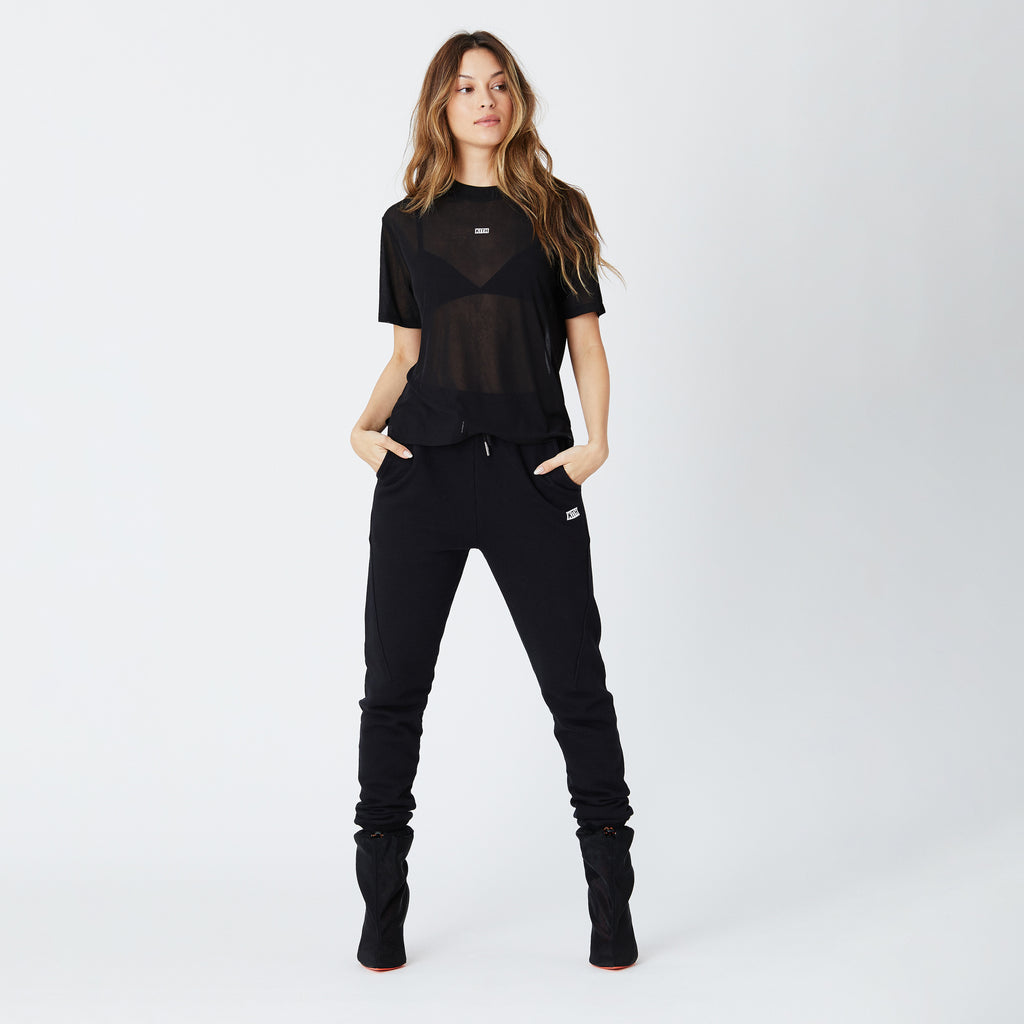 Kith Women Maddy Sheer Tee - Black-look