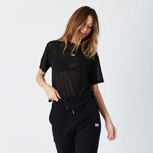 Kith Women Maddy Sheer Tee - Black Image 3