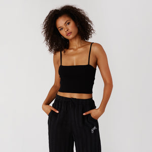 Kith Women Tara Knit Top - Black