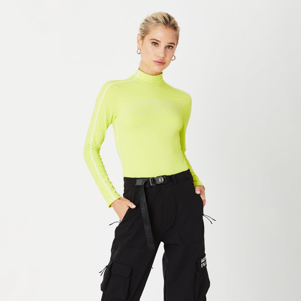 Kith Women Leah L/S Turtleneck - Citron-look