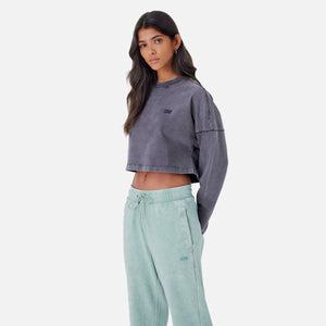 Kith Women Cropped Lucy L/S - Black Image 3