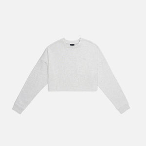 Kith Women Cropped Lucy L/S - Heather Grey