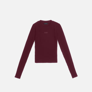 Kith Women Brit L/S Tee - Wine