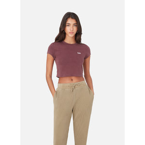 Kith Women Mulberry Tee - Wine Image 5