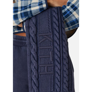 Kith Women Washed Elston Knit Scarf - Navy