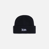 Kith Women Ribbed Mia Beanie - Black Thumbnail 1